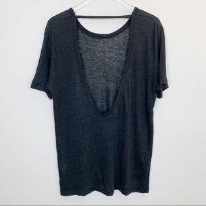 IRO | Lena Tee Linen Low Back Black Medium